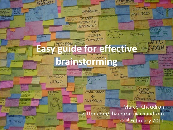 "Easy guide for effective brainstorming<br />Easy guide to""implement GTD using Springpad""<br />Marcel Chaudron<br />Twitter..."
