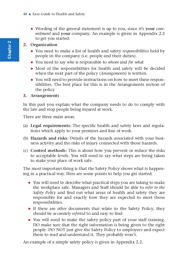Health and Safety Guide BY Muhammad Fahad Ansari 12IEEM14 – Sample Health and Safety Policy