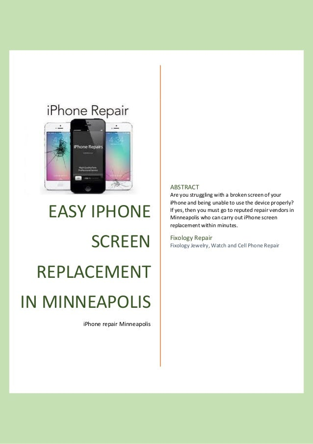 cracked screen phone repair mn