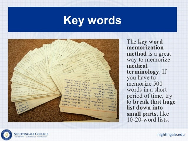 How to Learn Medical Terminology and Remember it | Ross ...