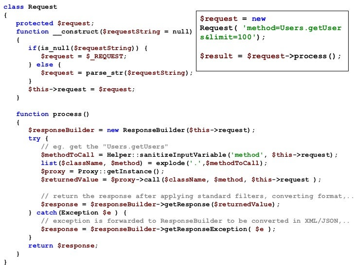 class  Request  { protected  $request ; function  __construct( $requestString  = null) { if (is_null( $requestString )) { ...