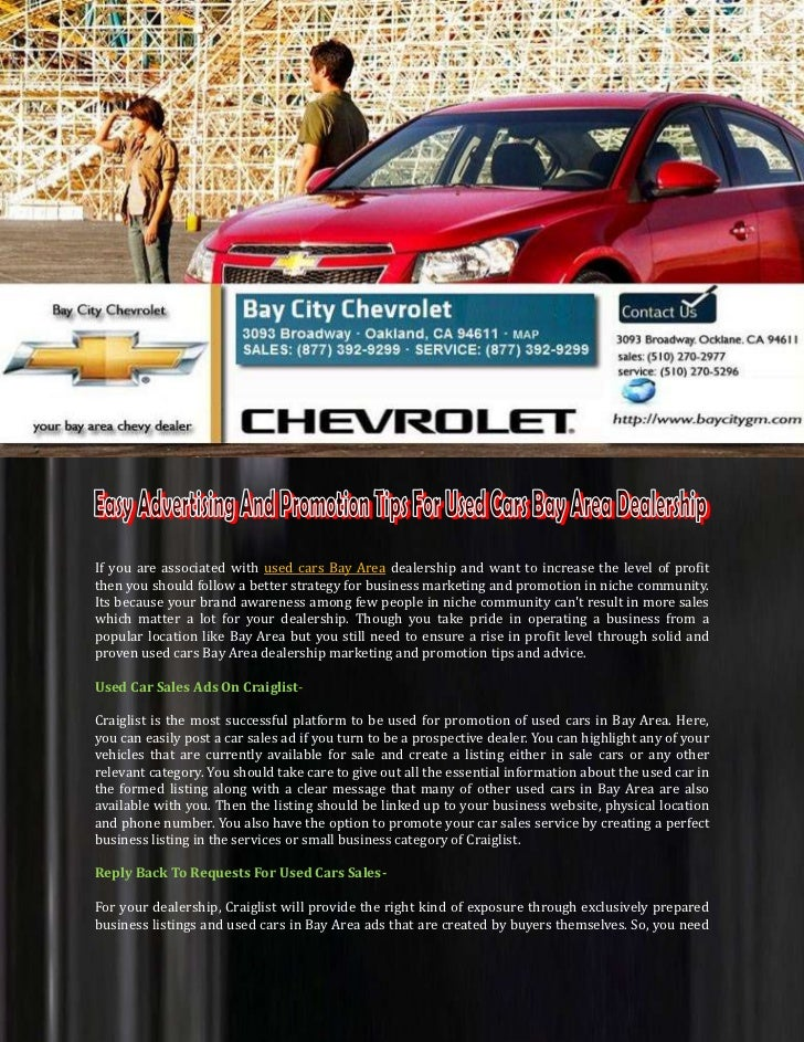 Used Cars Bay Area >> Easy Advertising And Promotion Tips For Used Cars Bay Area