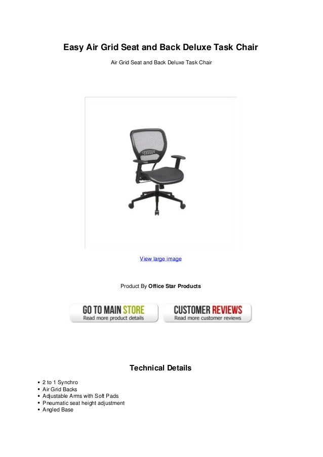 Astonishing Easy Air Grid Seat And Back Deluxe Task Chair Theyellowbook Wood Chair Design Ideas Theyellowbookinfo