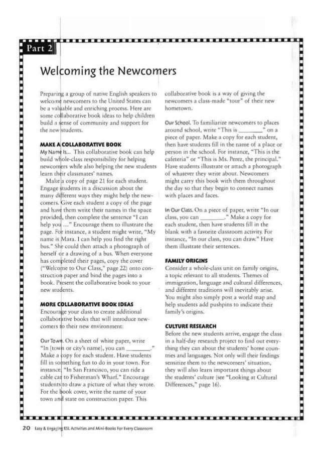 ESL Activities and Mini-Books