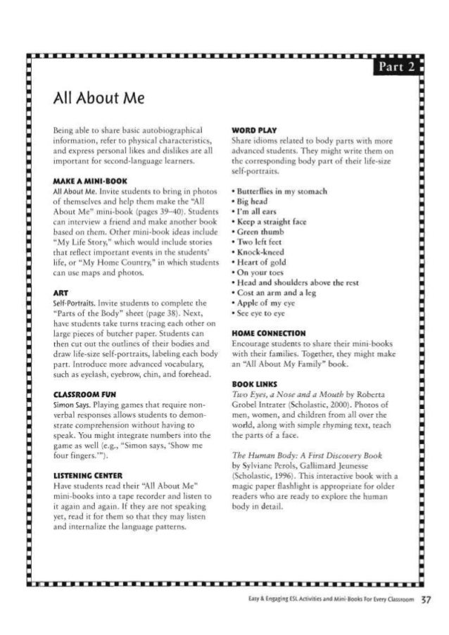 Worksheet All About Me Questions For Adults esl activities and mini books