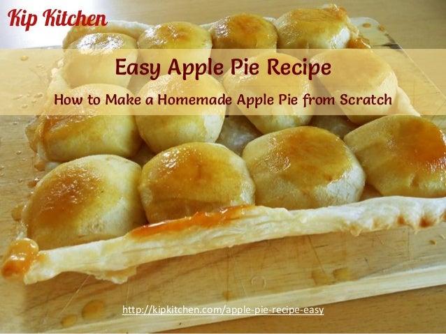 Recipes for easy apple pie