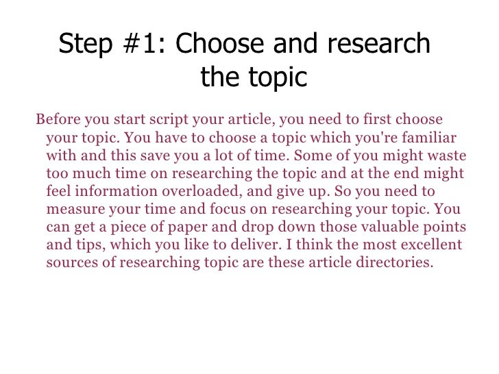 steps report writing