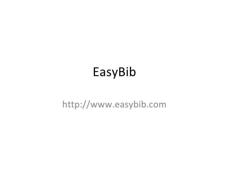 EasyBib http://www.easybib.com