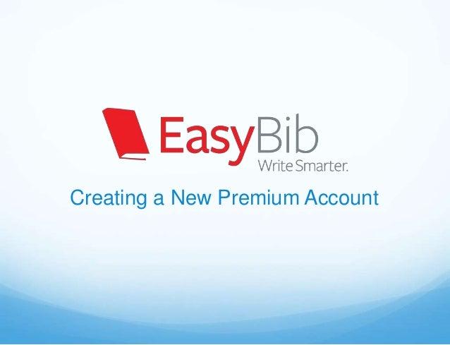 Creating a New Premium Account