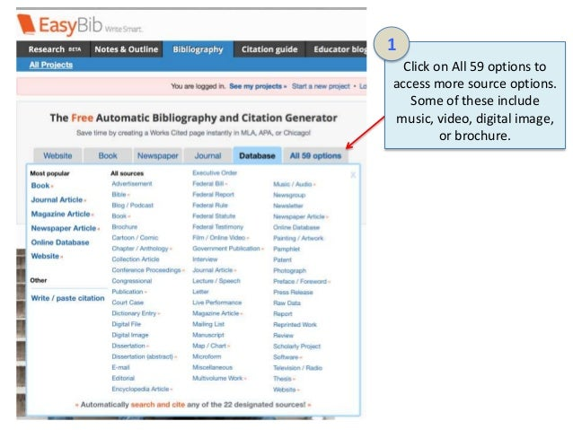 Easybib importance in the academic sphere for creating Citation, Bibliography & References
