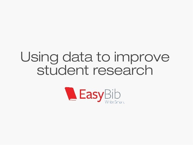 Using data to improve student research