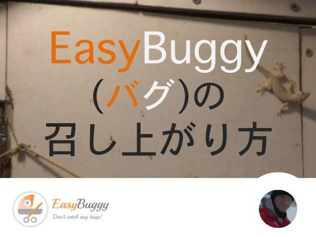 EasyBuggy (バグ)の 召し上がり方