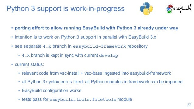 EasyBuild State of the Union