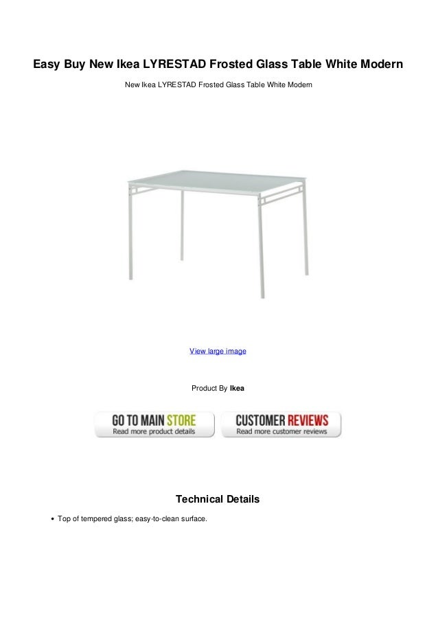 Easy Buy New Ikea LYRESTAD Frosted Glass Table White ModernNew Ikea  LYRESTAD Frosted Glass Table White ...