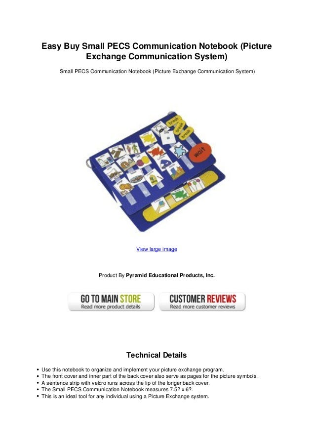 Easy Buy Small Pecs Communication Notebook Picture Exchange Communica