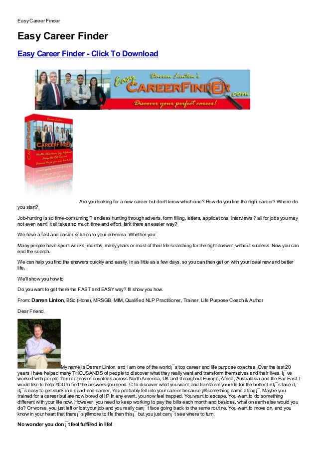 Easy Career FinderEasy Career FinderEasy Career Finder - Click To DownloadFree, Buy, Full Version, Cracked, Free Download,...