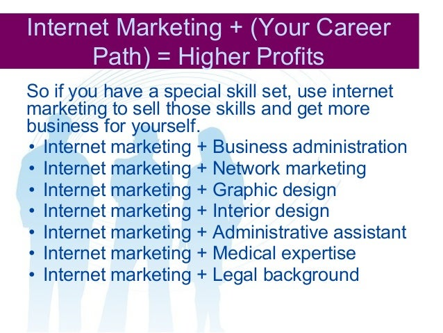 Complete Guide Provided Here 18 Internet Marketing Your Career Path