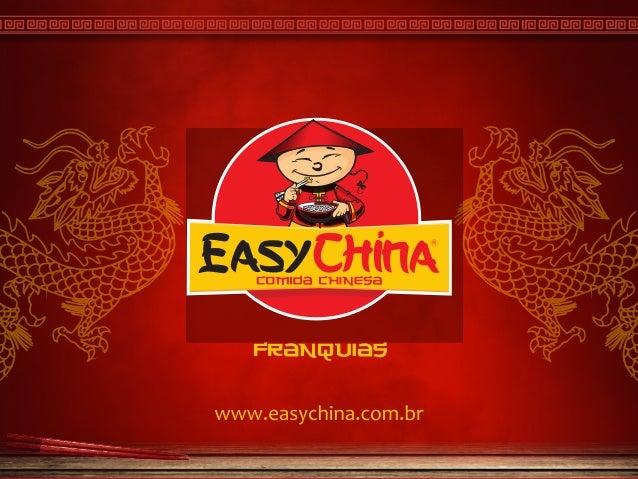 Franquia Easy China Comida Chinesa
