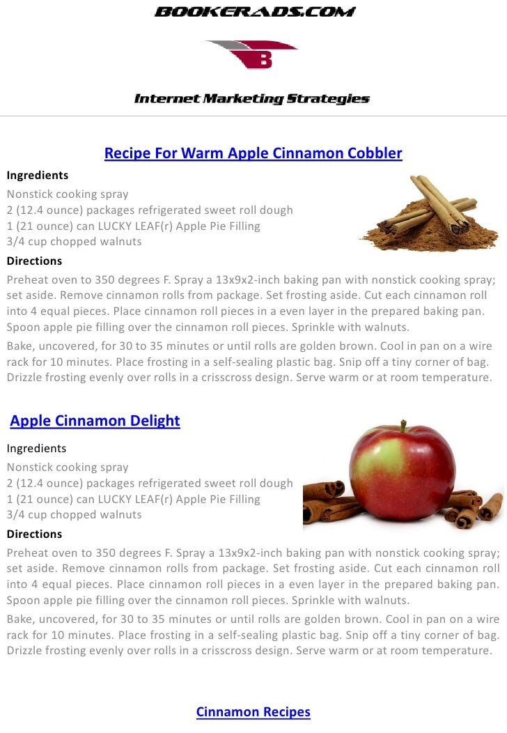 Recipe For Warm Apple Cinnamon CobblerIngredientsNonstick cooking spray2 (12.4 ounce) packages refrigerated sweet roll dou...