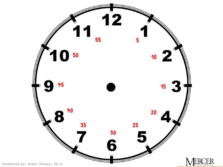 Easy clock to help learn time