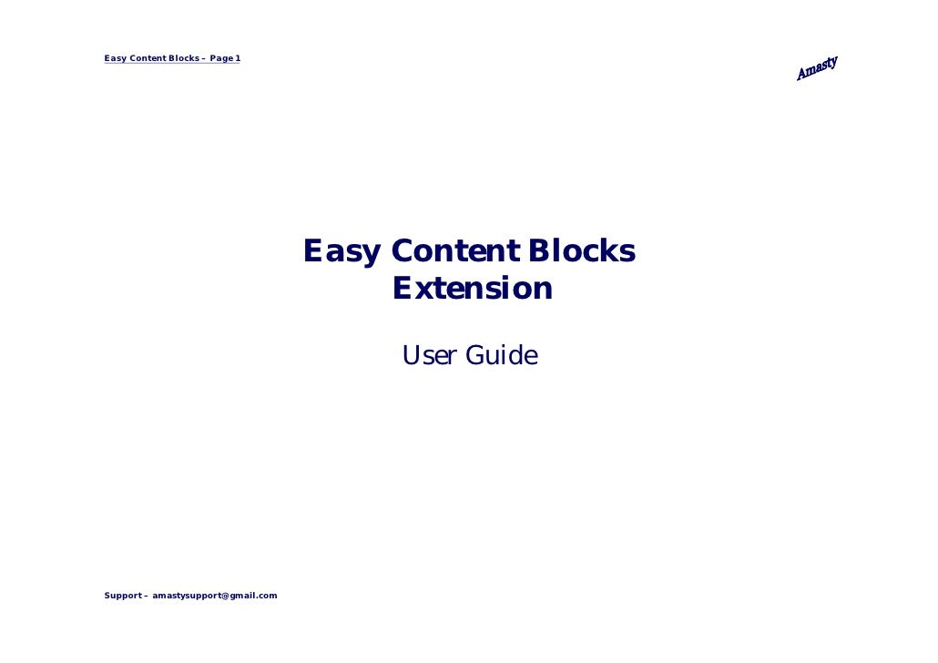Easy Content Blocks – Page 1                                    Easy Content Blocks                                       ...