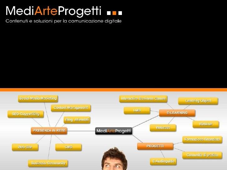 Chi siamoMediArteProgetti nasce nel 2003 da un'idea di lavoro creativo e si consolida negli     anni in un gruppo di lavor...