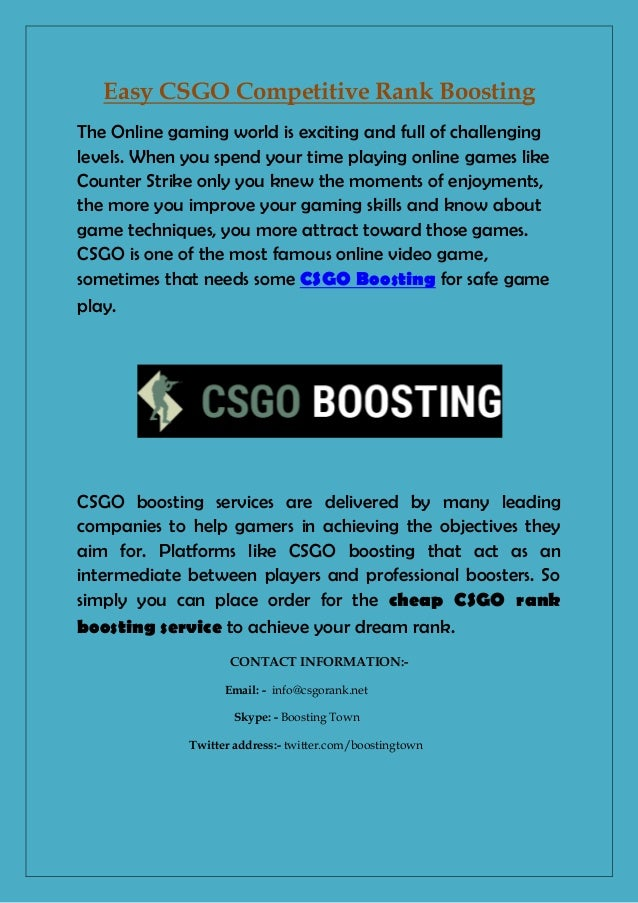 Easy CSGO Competitive Rank Boosting