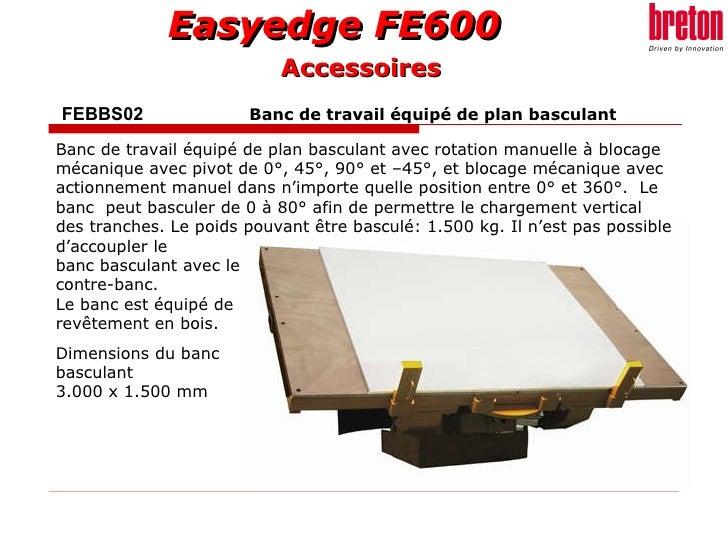 FEBBS02     Banc de travail équipé de plan basculant   Banc de travail équipé de plan basculant avec rotation manuelle à b...