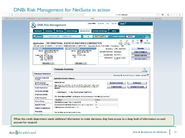 Netsuite Webinar: Easy Data and Credit Management with Dun ...