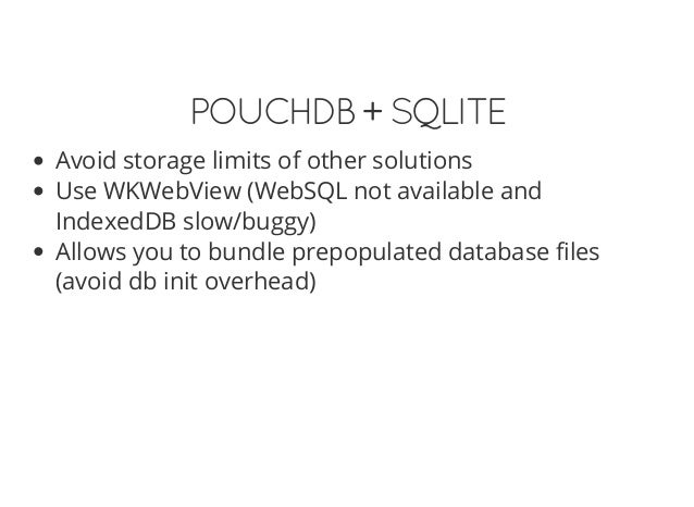 Easy Data for PhoneGap apps with PouchDB