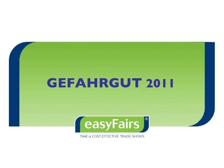 Warum sollte Ihr Unternehmen  auf der neuen  easyFairs GEFAHRGUT ausstellen?