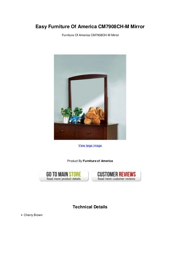 Easy Furniture Of America CM7908CH-M MirrorFurniture Of America CM7908CH-M MirrorView large imageProduct By Furniture of A...