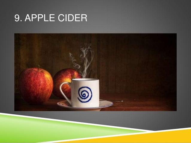 9. APPLE CIDER