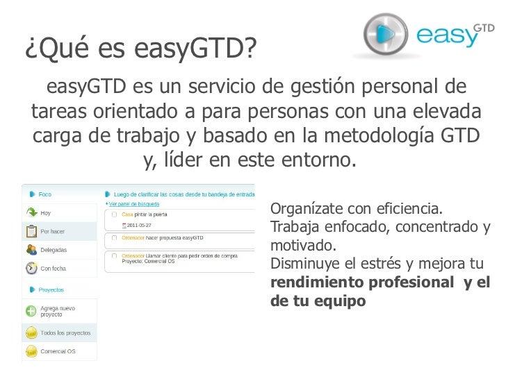 easyGTD - presentación producto Slide 2