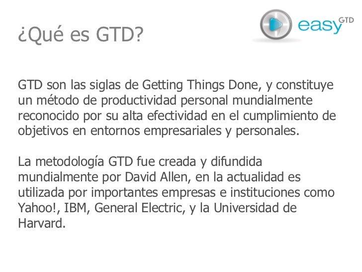 easyGTD - presentación producto Slide 3