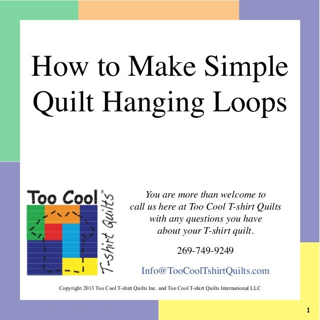 How To Make Easy Quilt Hanging Loops