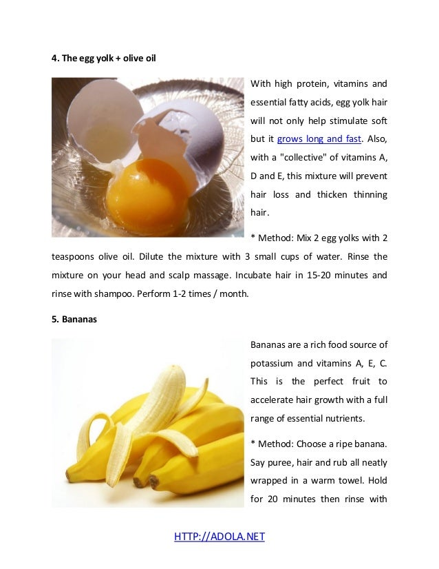 Egg yolk treatment for hair loss