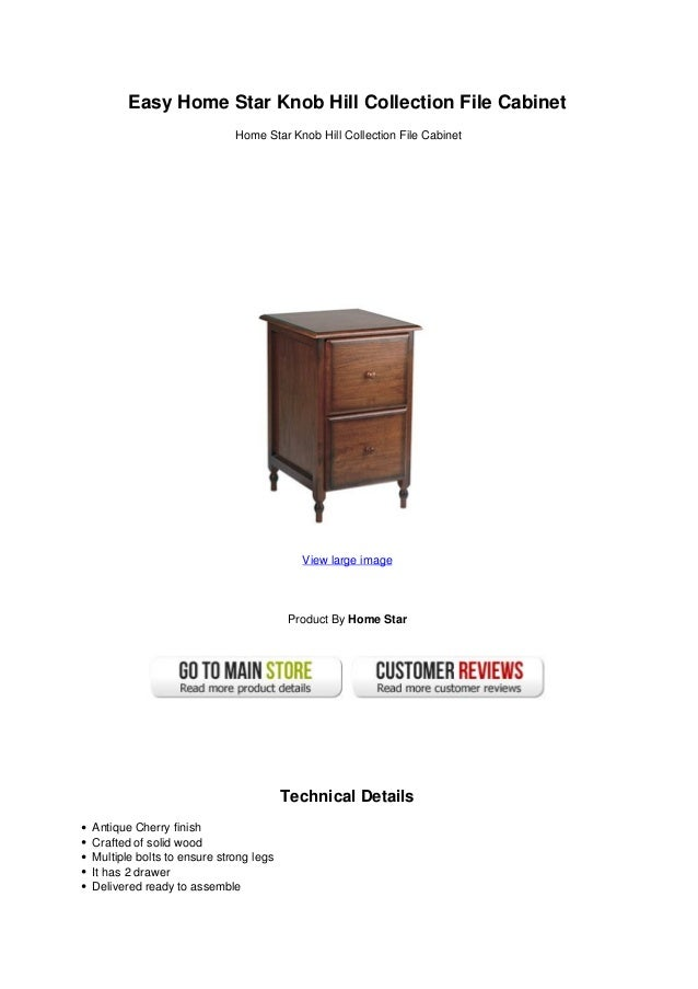 Easy home star knob hill collection file cabinet