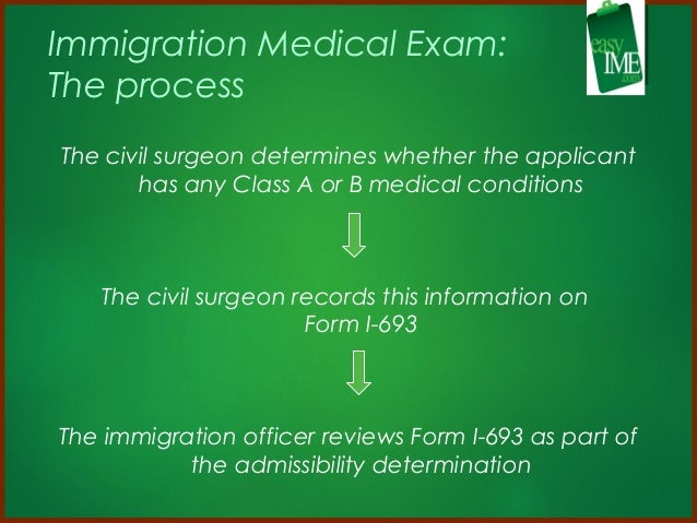 IMMIGRATION MEDICAL EXAMINATIONS FOR THE GREEN CARD