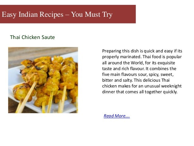 Some indian recipes you must try thai forumfinder Gallery