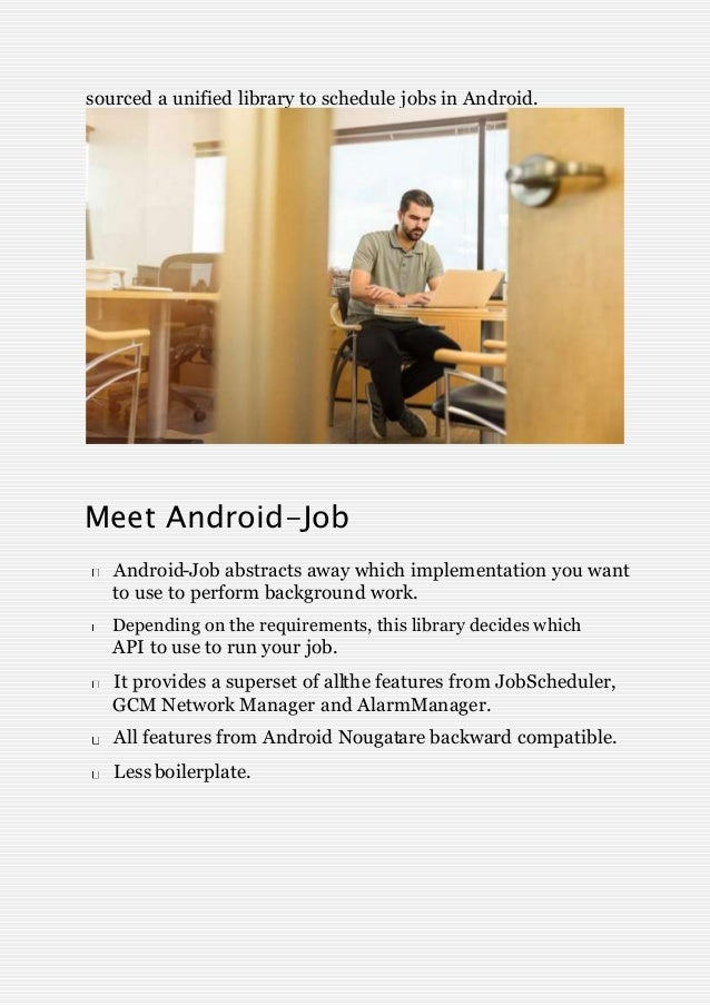 Easy job scheduling with android