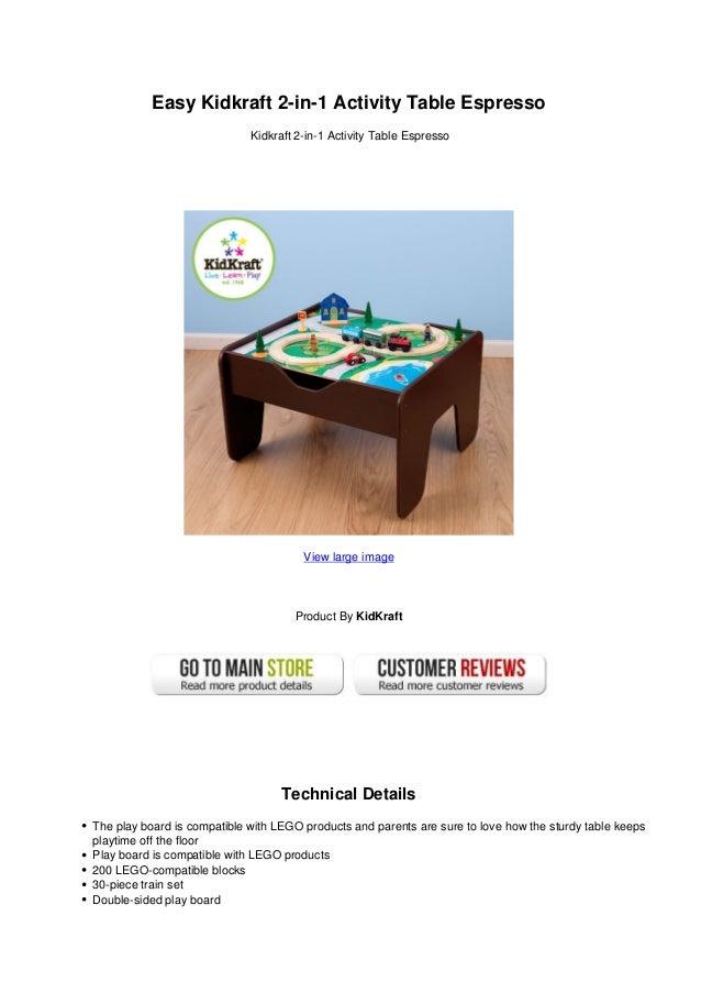Easy Kidkraft 2 In 1 Activity Table EspressoKidkraft 2 In 1 Activity ...