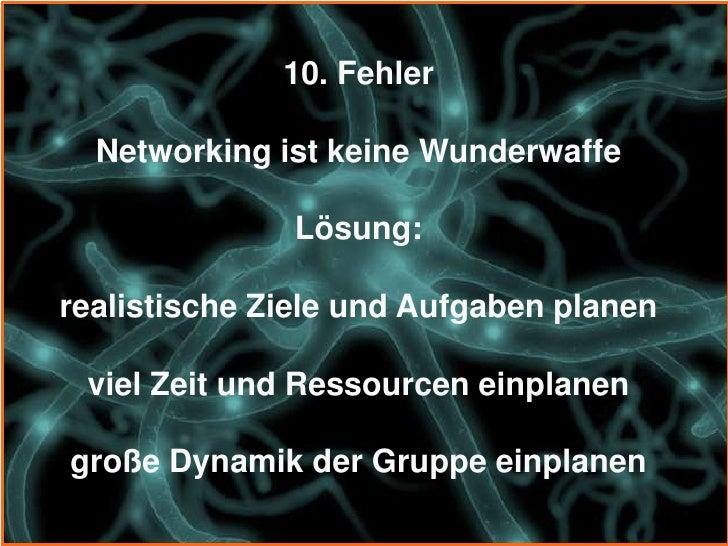 Wie werden die 10 größten Fehler im Networking vermieden?