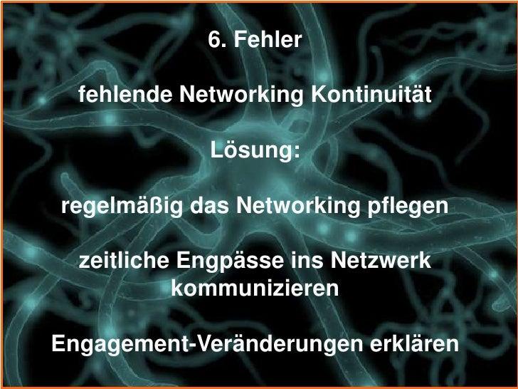 8. Fehler    unpersönliche digitale Beziehungen                 Lösung:  persönliche reale Beziehungen aufbauenÜbergang vo...