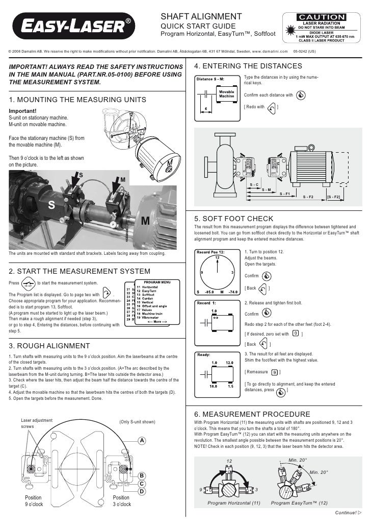 ShAft ALIGnMent                                                                                       QUIck StArt GUIDe   ...
