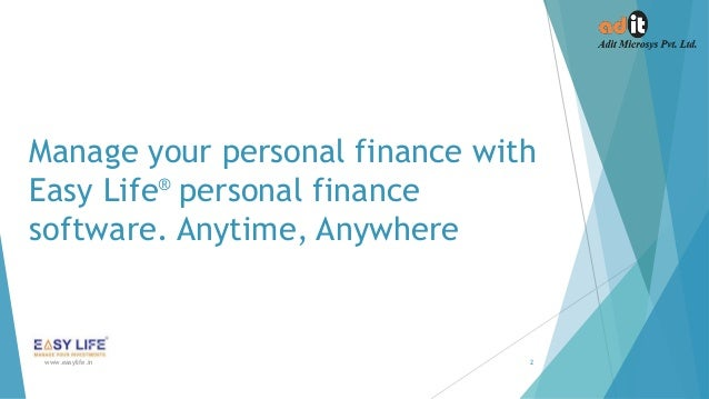 Easy life Personal Finance Software