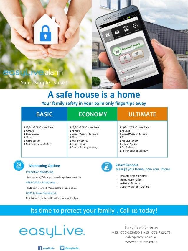 easylive smart alarm system brochure