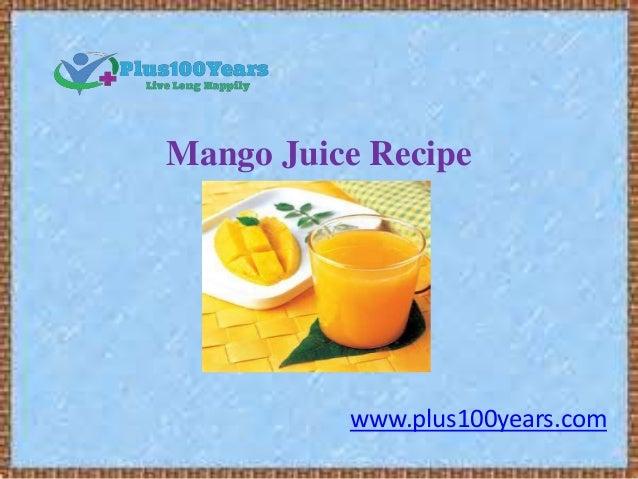 Easy mango juice recipe - 77.1KB