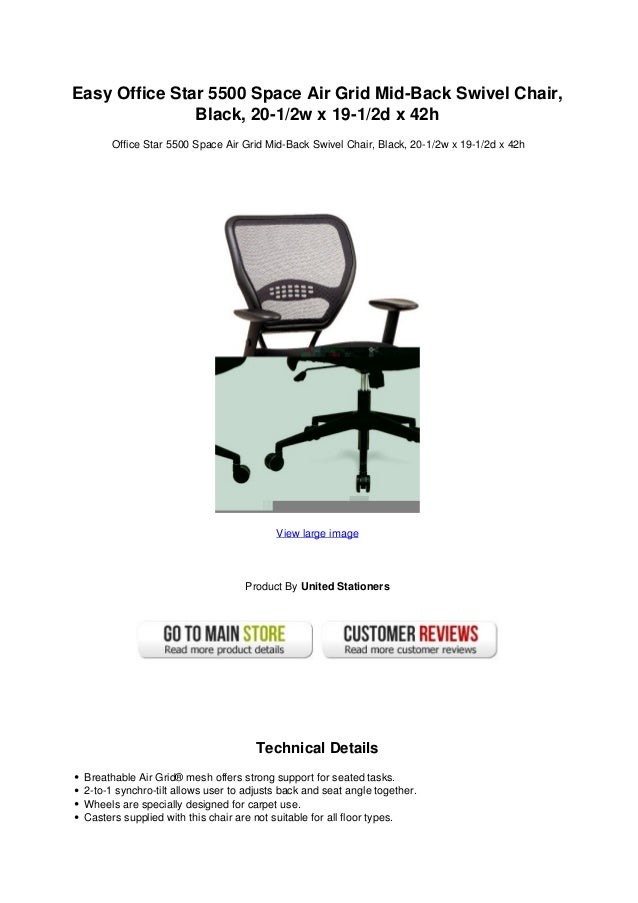 easy office star 5500 space air grid mid back swivel chair black 20 1