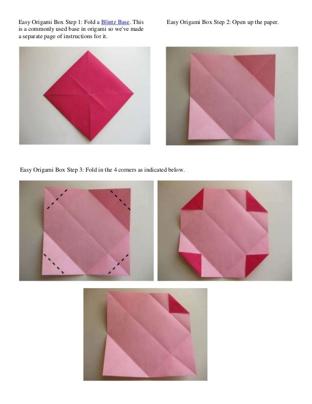 Easy Origami Box Step 1